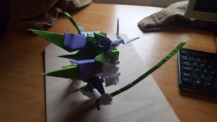 Samurai with Dual Katana - Origami - A by BoyarTactics