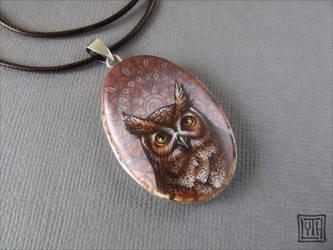 Eagle owl by Lyth