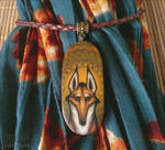 Maned wolf. Hand-painted pendant by Lyth