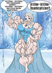 Muscular Elsa By E19700 color by mud666