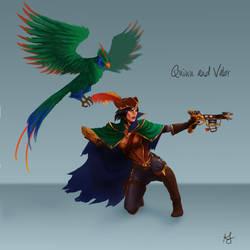 Bilgewater Quinn and Valor Skin by Xelandra