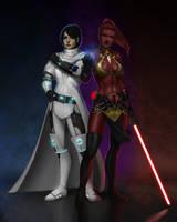 Fel and Lhamia ~ Commission by Xelandra