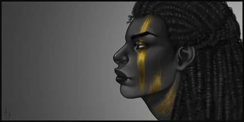 Black and Gold by Xelandra