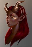 Red-Succubus by Xelandra