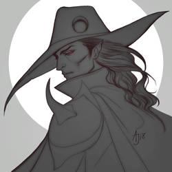 Vampire Hunter D - Drawing by Xelandra