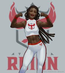 Atlanta Reign Mascot by Xelandra