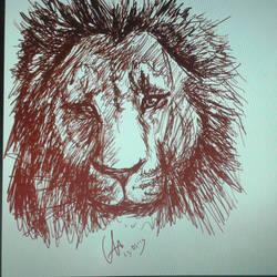 Lion Sketch by ShioBRain
