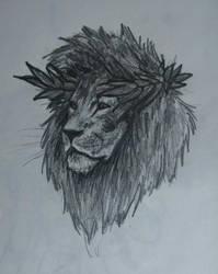 Lion - greek god sketch by ShioBRain