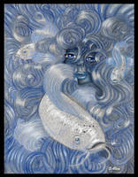 Self Portrait - Blue by Ederoi