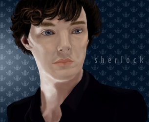 Just Another Sherlock Portrait by FlurryOfWhimsy