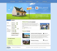 Real Estate Website Template - RE003 by phyllis-L