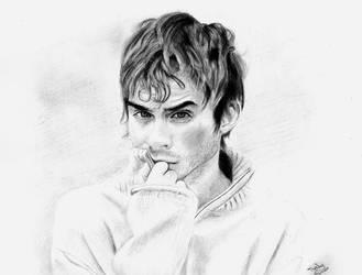 Drawing: Ian Somehalder by crazyemm