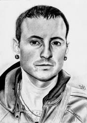 Drawing: Chester Bennington by crazyemm