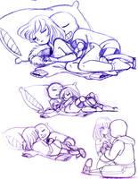 Doodles Sans n Frisk by Aznara