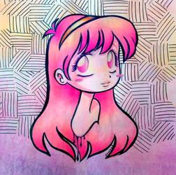 Pink girl by Aznara