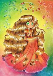 rainbow lady by Aznara