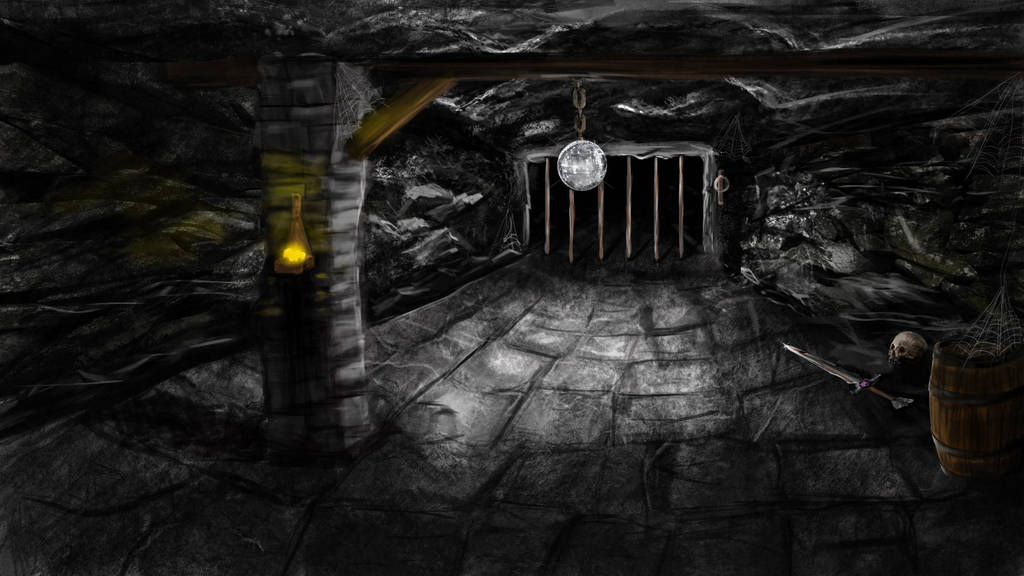 Dnd Dungeon Latern Sward Skul Barel by IreneTheochari