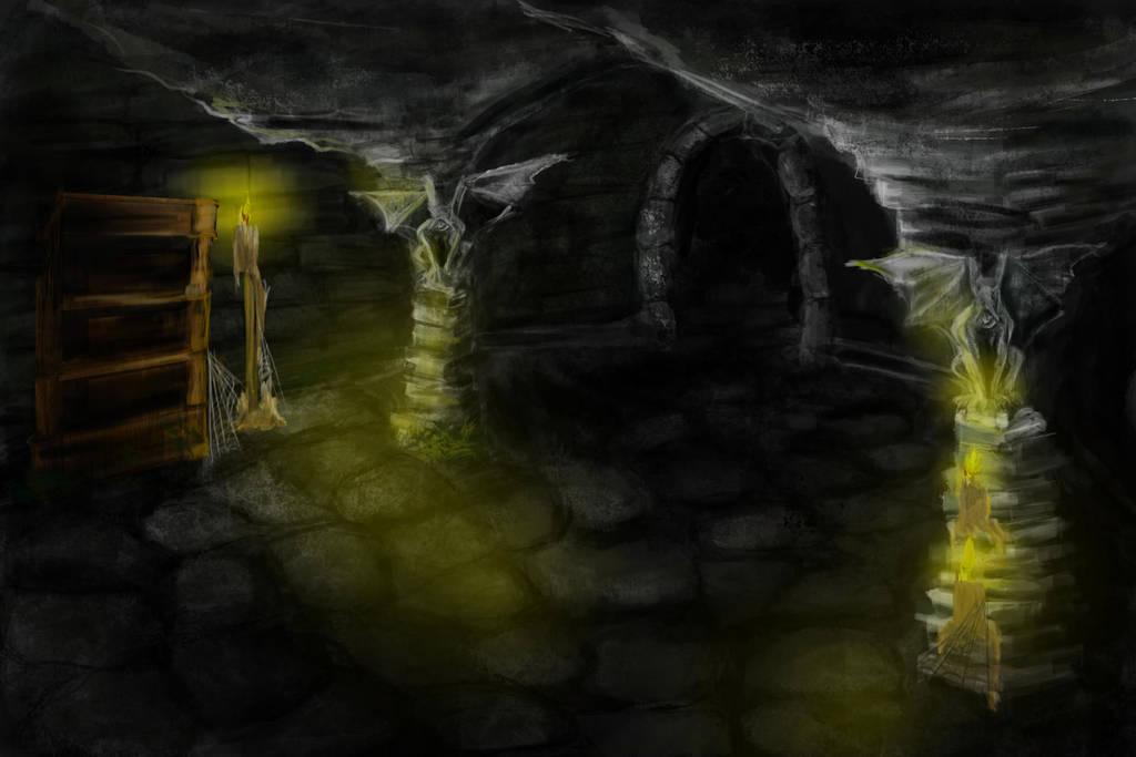 Dungeons and Disco concept art gargoyle by IreneTheochari