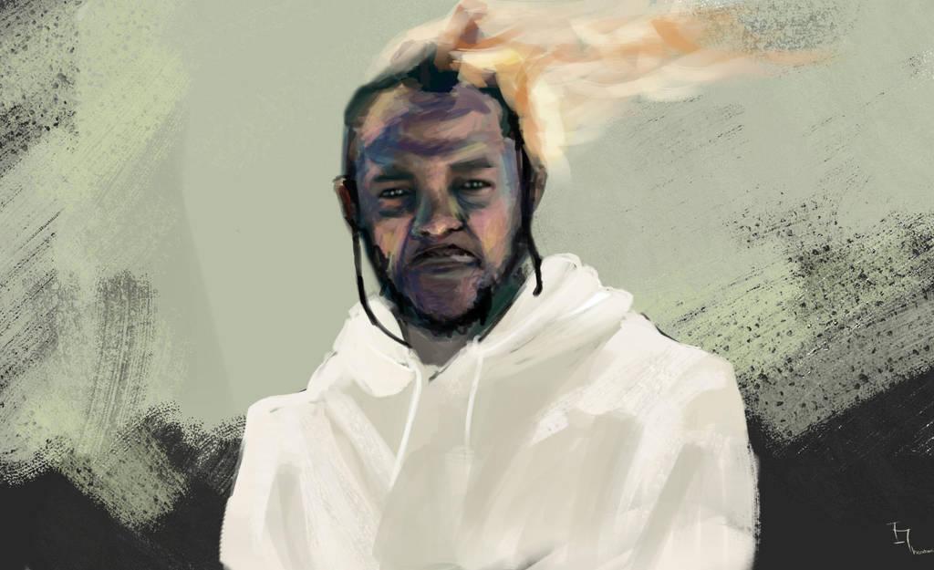 Kendrick Lamar digital portrait by IreneTheochari