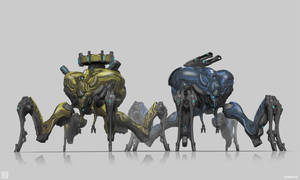 Warframe: Corpus Arachnoids Wraith and Camper by SBigham