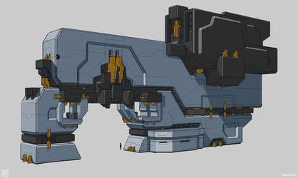 Warframe: Grey Block Drawover by SBigham