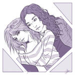 CM: Monochrome Couple Sketch 1 by BabyReni