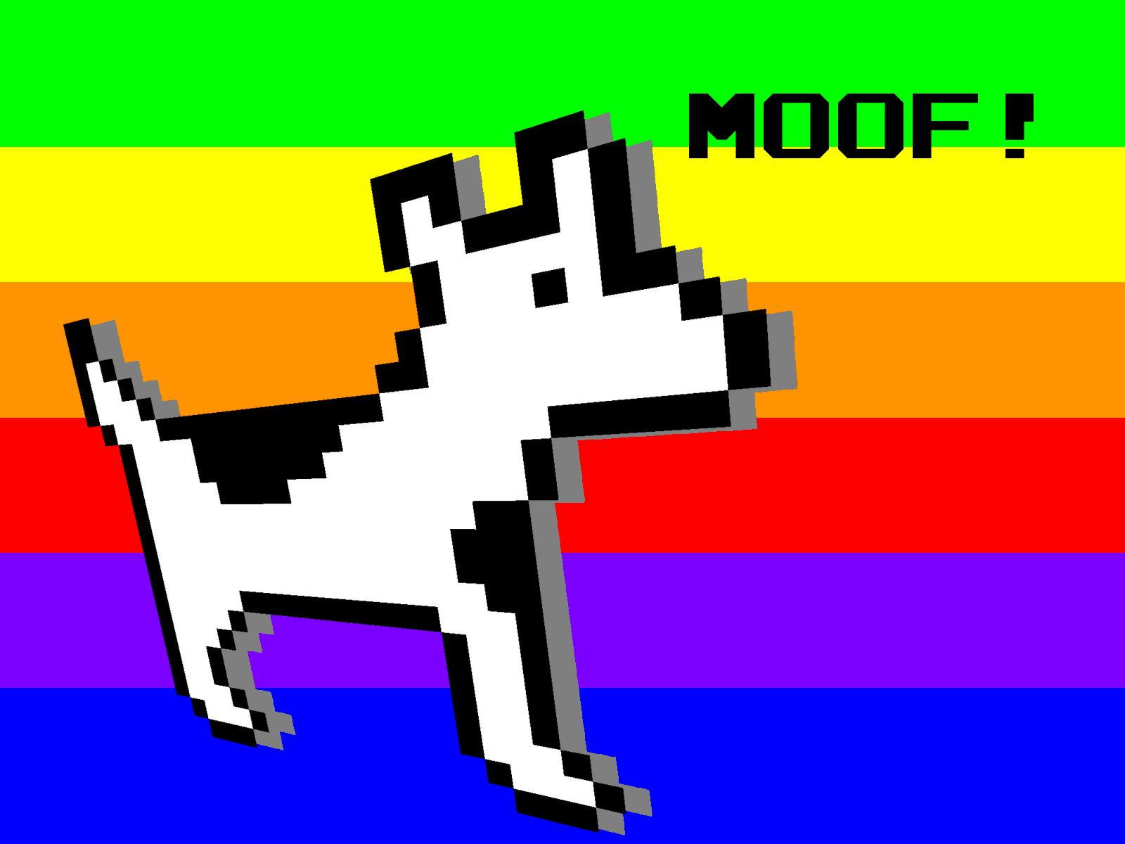 Dogcow desktop by SpyrotheBadassDragon