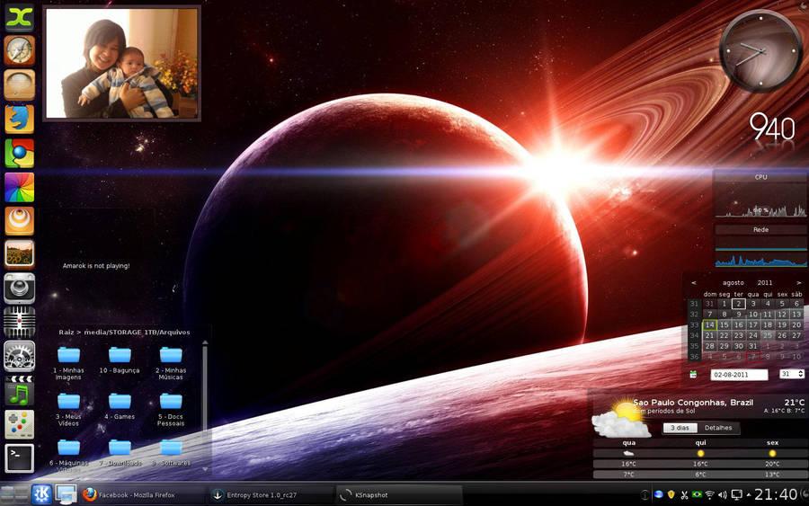 My Desktop Sabayon with KDE by cleubinho