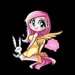 Flutter Shy by basakdash