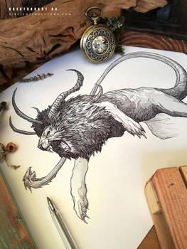 CREATUANARY day 4 (Chimera) by Dibujante-nocturno