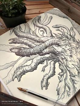 CREATUANARY day 6 (Hydra) by Dibujante-nocturno