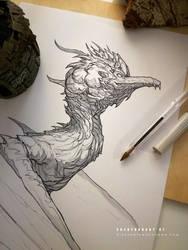 CREATUANARY day 2 (Tzika + Dragon) by Dibujante-nocturno