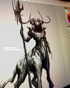CREATUANARY day 18 (Centaur) by Dibujante-nocturno
