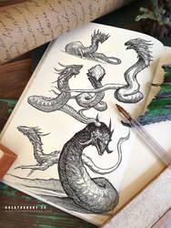 #creatuanary Day 25: #lindworm by Dibujante-nocturno