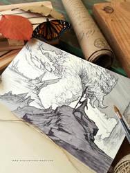 Sketch // Monarca by Dibujante-nocturno