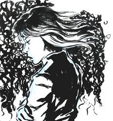 Daily sketch - ink by emeraldpainter