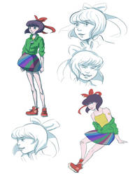 Running Animation Sketches by emeraldpainter
