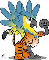 Tigrot the Tiger Parrot Gryphon by jimbox31