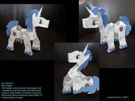 Shining Armor Paper Poseable by jimbox31
