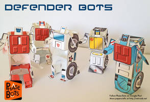 Defender Bots - TF Inspired Papercraft Set by jimbox31