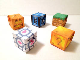 Nerdy Cubes Papercraft Series by jimbox31