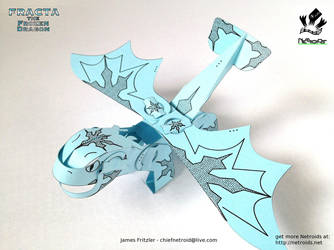 Fracta the Frozen Dragon Netroid Papercraft by jimbox31