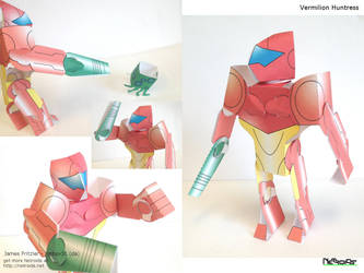 Vermilion Huntress Papercraft by jimbox31