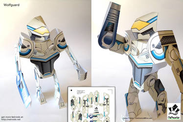 Wolfguard Netroid Papercraft by jimbox31