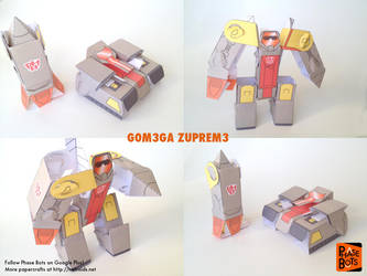 Transformers Omega Supreme Papercraft Fan Art by jimbox31