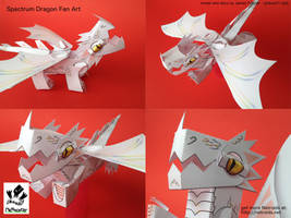 Raxtus Dragon Fan Art Papercraft from Fablehaven by jimbox31
