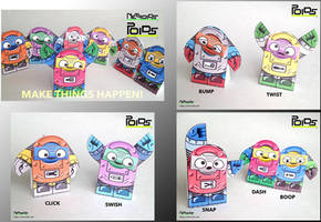 Poids - Poseable Papercraft Robots Series 1 by jimbox31