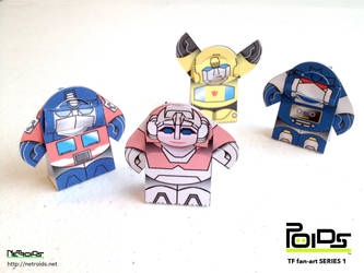 Transformers Fan Art Papercraft Poids by jimbox31