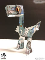 Raptor Netroid Papertoy blue variant by jimbox31