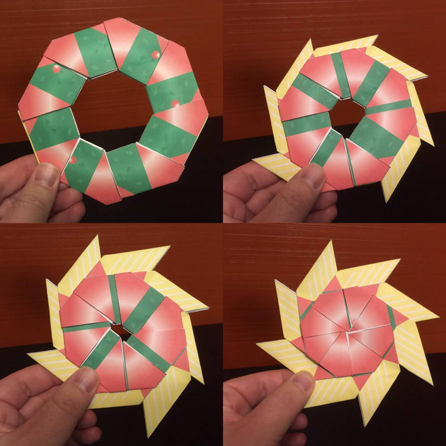 Transforming Star Wreath Papercraft by jimbox31